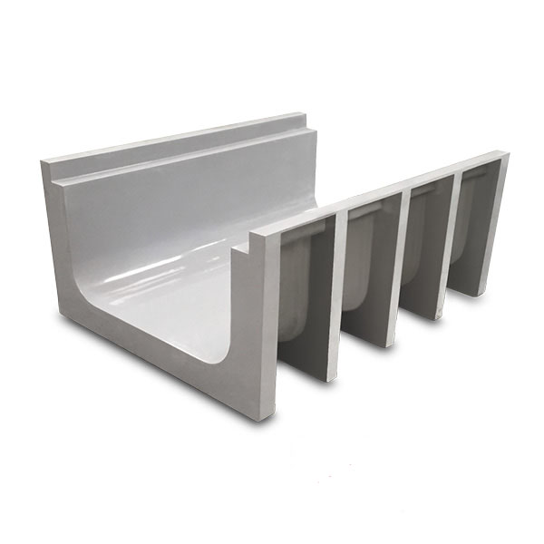 Grey GRP Straight Cable Trenchlitr Trough